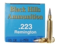 Product detail of Black Hills Remanufactured Ammunition 223 Remington 60 Grain Hornady V-Max Box of 50