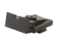 Product detail of Kensight Adjustable Rear Sight 1911 Bo-Mar Cut Steel Black Square Blade Fully Serrated