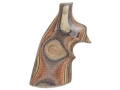 Product detail of Hogue Fancy Hardwood Grips with Top Finger Groove Ruger Redhawk Checkered Lamo Camo
