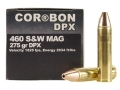Product detail of Cor-Bon Hunter Ammunition 460 S&W Magnum 275 Grain DPX Barnes XPB Hollow Point Lead-Free Box of 20