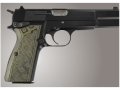 Product detail of Hogue Extreme Series Grip Browning Hi-Power Checkered G-10 OD Green Camo