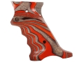 Product detail of Volquartsen Laminated Wood Target Grips Ruger Mark III Right Hand Orange