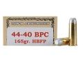 Thumbnail Image: Product detail of Ten-X Cowboy Ammunition 44-40 WCF 165 Grain Lead ...