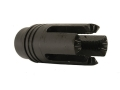 "Product detail of DSA Flash Hider Steyr Pattern 9/16""-24 LH Thread FN FAL Steel Matte"
