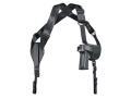 "Product detail of Uncle Mike's Cross-Harness Horizontal Shoulder Holster Ambidextrous Medium Double-Action Revolver 4"" Barrel Nylon Black"