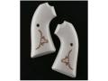 Product detail of Hogue Grips Ruger Bisley Ivory Polymer Longhorn Pattern