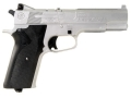 "Product detail of Crosman RepeatAir 1008 CO2 Air Pistol 177 Caliber 4-1/4"" Barrel Silver with Synthetic Grips Black"