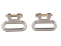 "Product detail of The Outdoor Connection Titan Q-R Detachable Sling Swivels 1"" Stainless Steel Gray (1 Pair)"
