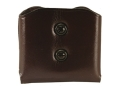 Product detail of Galco DMC Double Magazine Pouch 45 ACP, 10mm Single Stack Magazines Leather Brown