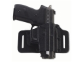 Product detail of Galco Tac Slide Belt Holster Right Hand Springfield XD Fullsize and Compact 9, 40 Caliber Leather and Kydex Black
