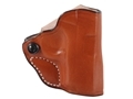 Product detail of DeSantis Mini Scabbard Outside the Waistband Holster Right Hand Sig Sauer P238 Leather Tan