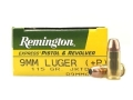 Product detail of Remington Express Ammunition 9mm Luger +P 115 Grain Jacketed Hollow Point Box of 50