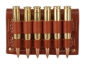 Product detail of Hunter Cartridge Belt Slide Rifle Ammunition Carrier 30-06 Springfield Base 6-Round Leather Brown