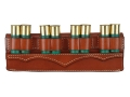 Product detail of Hunter Belt Slide Shotshell Ammunition Carrier 8-Round 12 Gauge Leather Chestnut
