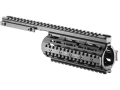 Product detail of Mako Quad Rail Free Float Tube Customizable Rail AR-15 Flat-Top Carbine Length Aluminum Black