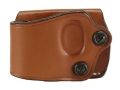 Product detail of DeSantis Yaqui Slide Belt Holster Left Hand Large Frame Double Action Semi-Automatic Leather Tan
