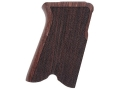 Product detail of Hogue Fancy Hardwood Grips Ruger P85, P89, P90, P91 Checkered Rosewood
