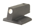 "Product detail of Novak Front Sight 1911 Novak Cut .075"" Depth .215"" Height .125"" Width Steel Blue White Dot"