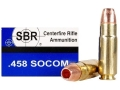 Product detail of SBR Ammunition 458 SOCOM 250 Grain Barnes Triple-Shock X Bullet Hollow Point Lead-Free Box of 20