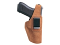 Product detail of Bianchi 6D ATB Inside the Waistband Holster Right Hand Glock 26, 27, 33, Sig Sauer P239 Suede Tan