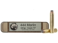 Product detail of Grizzly Ammunition 444 Marlin 300 Grain Hawk Bonded Core Jacketed Flat Point Box of 20
