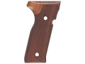 Product detail of Hogue Fancy Hardwood Grips Beretta Cougar 8000 Checkered Pau Ferro