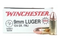 Product detail of Winchester USA Ammunition 9mm Luger 124 Grain Full Metal Jacket