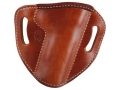 Product detail of El Paso Saddlery #88 Street Combat Outside the Waistband Holster Right Hand 1911 Government Leather Russet Brown