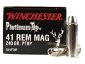 Product detail of Winchester Supreme Ammunition 41 Remington Magnum 240 Grain Platinum ...