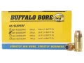 Product detail of Buffalo Bore Ammunition 45 Super 230 Grain Jacketed Hollow Point Box of 50