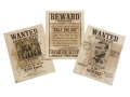 Product detail of Collector's Armoury Replica Wanted Posters Set of 3 - Billy the Kid, Wild Bunch and Jesse James Parchment