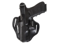 Product detail of Bianchi 77 Piranha Belt Holster Left Hand Glock 26 Leather Black