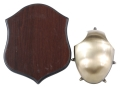 Product detail of Flambeau Deer Antler Mounting Kit Brass with Wood Shield