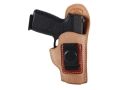 Product detail of El Paso Saddlery EZ Carry Inside the Waistband Holster Right Hand Kahr CM9, PM9, PM40, MK9, MK40 Leather Natural