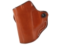 Product detail of DeSantis Mini Scabbard Outside the Waistband Holster Left Hand Taurus 709 Slim Leather Tan