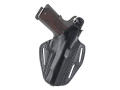 Product detail of BlackHawk CQC 3 Slot Pancake Belt Holster Right Hand Glock 17, 22, 31 Leather Black