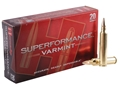 Product detail of Hornady SUPERFORMANCE Varmint Ammunition 204 Ruger 45 Grain Jacketed Soft Point Box of 20