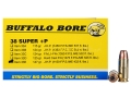 Product detail of Buffalo Bore Ammunition 38 Super +P 147 Grain Jacketed Hollow Point Box of 20