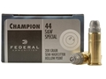 Product detail of Federal Champion Target Ammunition 44 Special 200 Grain Semi-Wadcutter Hollow Point Box of 20