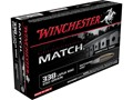 Product detail of Winchester Match Ammunition 338 Lapua Magnum 250 Grain Sierra MatchKing Hollow Point Boat Tail