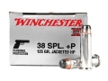 Product detail of Winchester Super-X Ammunition 38 Special +P 125 Grain Jacketed Hollow Point