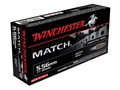 Product detail of Winchester Match Ammunition 5.56x45mm NATO 77 Grain Sierra MatchKing Hollow Point Boat Tail