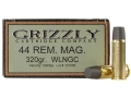 Product detail of Grizzly Ammunition 44 Remington Magnum 320 Grain Cast Performance Lead Wide Flat Nose Gas Check Box of 20