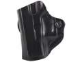 Product detail of DeSantis Mini Scabbard Outside the Waistband Holster Left Hand Glock 26, 27, 33 Leather Black
