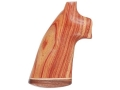 Product detail of Hogue Fancy Hardwood Grips with Accent Stripe Colt Python