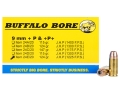 Product detail of Buffalo Bore Ammunition 9mm Luger +P 124 Grain Jacketed Hollow Point Box of 20