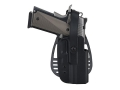 Product detail of Uncle Mike's Paddle Holster with Thumb Break Beretta 92, 96 (Except Brigadier, Elite) Kydex Black