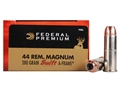 Product detail of Federal Premium Vital-Shok Ammunition 44 Remington Magnum 280 Grain Swift A-Frame Jacketed Hollow Point Box of 20
