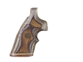 Product detail of Hogue Fancy Hardwood Grips with Accent Stripe and Top Finger Groove Taurus Medium and Large Frame Revolvers Round Butt Checkered