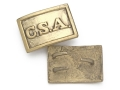 "Product detail of Collector's Armoury Replica Civil War Confederate ""CSA"" Rectangle Belt Buckle Brass"